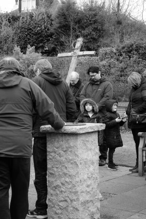 Walk of Witness 2018 in Bothwell - a prayerful moment