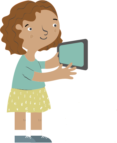 girl using a tablet